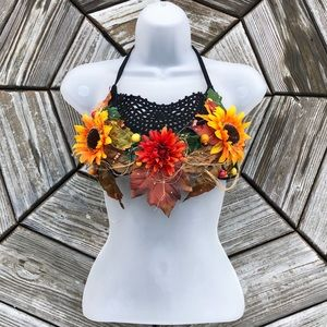 Other - Sunflower Boho Festival Decorated Bra Top Costume